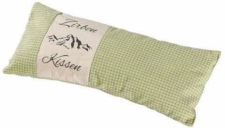 Duftkissen, »Zirbenkissen«, Herbalind, Karo grün mit Natur und Druck , 35x15 cm