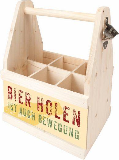 Contento Flaschenkorb Europäischem Aus »bierholen Auch Ist Holz Bewegung« Ha1wZqHx