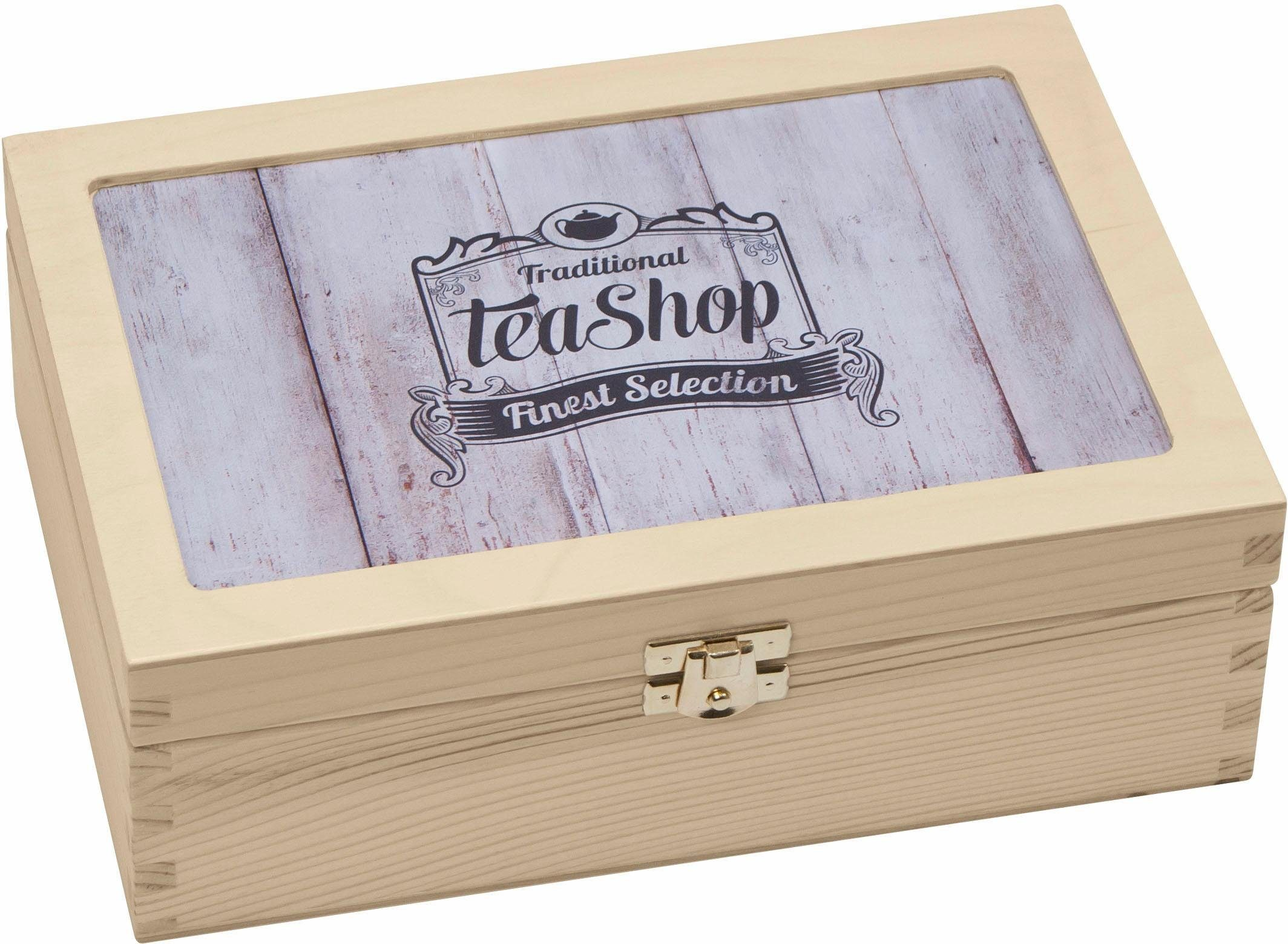 Contento Teebox »Traditional Tea-Shop Finest Selection«, Holz