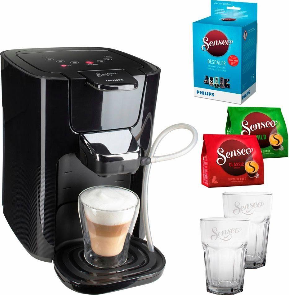 Senseo Kaffeepadmaschine SENSEO® LatteDuo HD7855/50, inkl. Gratis-Zugaben im Wert von 35,- UVP