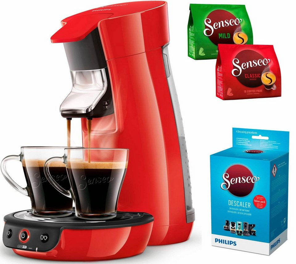 senseo kaffeepadmaschine senseo viva caf hd7829 80 inkl. Black Bedroom Furniture Sets. Home Design Ideas