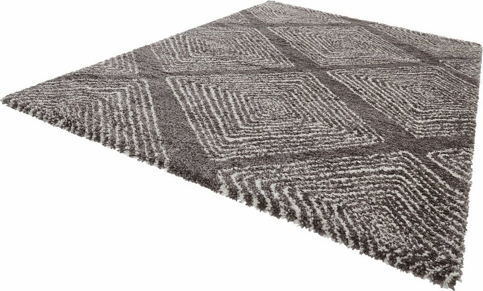 hochflor teppich wire mint rugs rechteckig h he 35 mm online kaufen otto. Black Bedroom Furniture Sets. Home Design Ideas