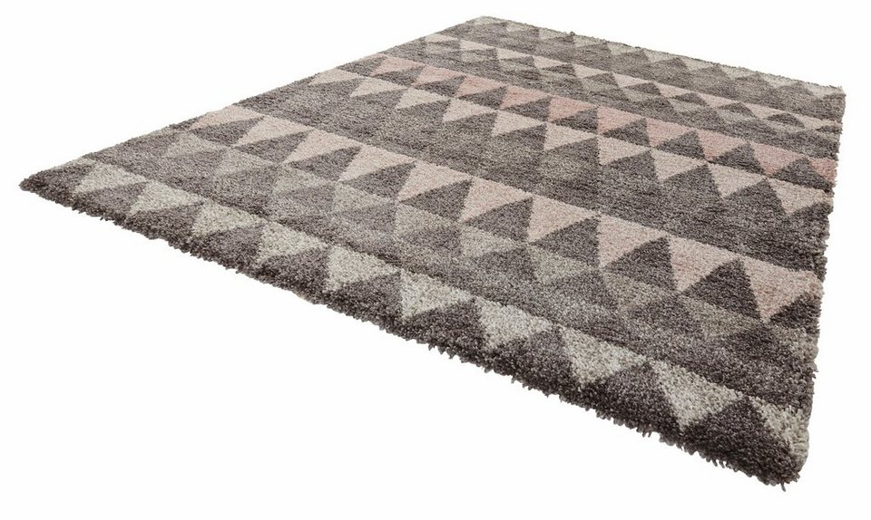 hochflor teppich mint rugs triangle h he 35 mm gewebt online kaufen otto. Black Bedroom Furniture Sets. Home Design Ideas