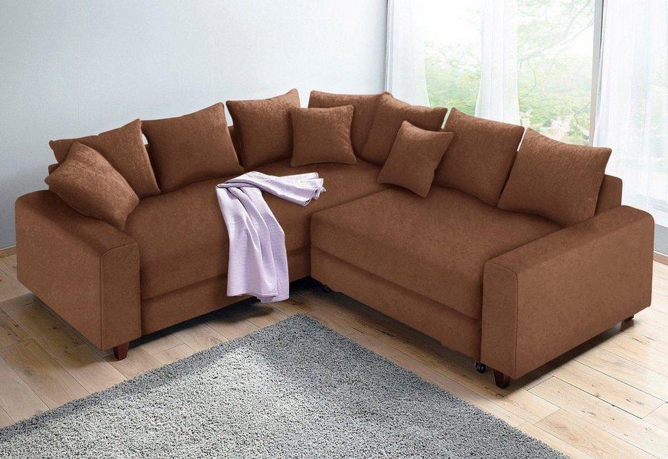 home affaire polsterecke mit federkern und wahlweise mit bettfunktion online kaufen otto. Black Bedroom Furniture Sets. Home Design Ideas