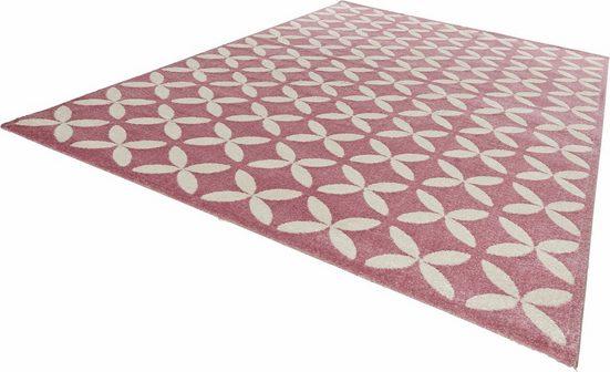 Teppich »Cross«, MINT RUGS, rechteckig, Höhe 12 mm, Allover Kurzflor