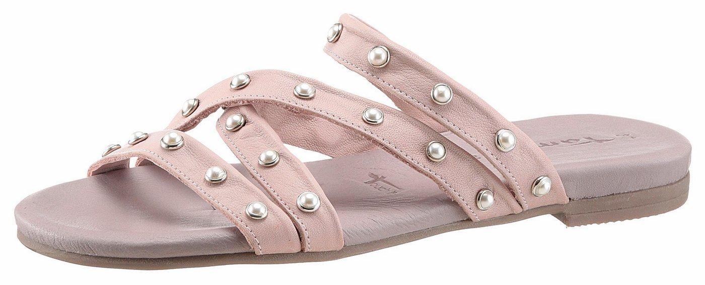 Tamaris Pantolette mit schönen Zierperlen | Schuhe > Clogs & Pantoletten | Rosa | Tamaris