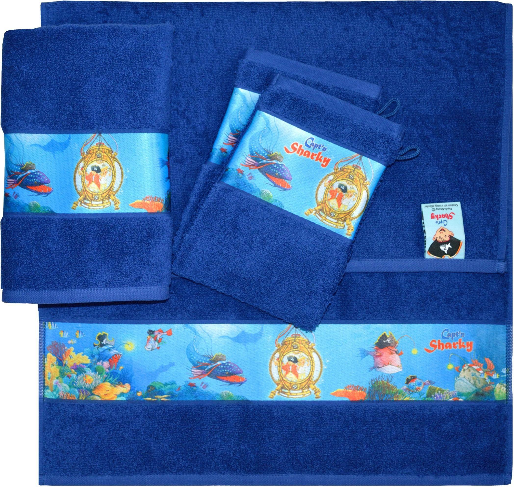 Handtuch Set, Capt`n Sharky, »Sharky«, mit Meeres Motiven