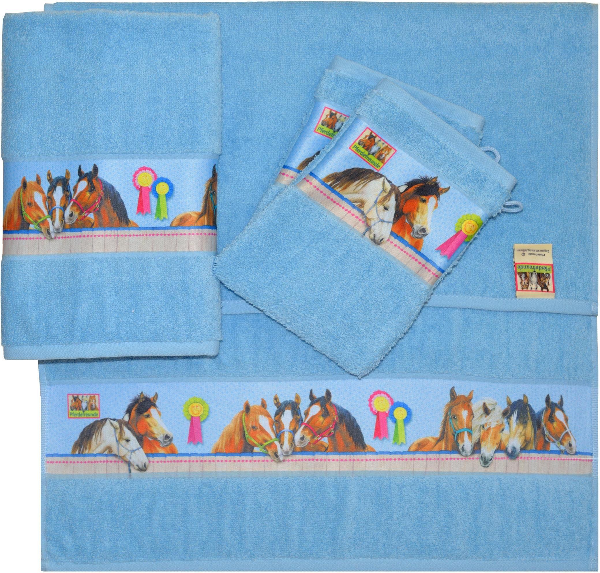 Handtuch Set, Pferdefreunde, »Horse«, mit Pferde Motiven