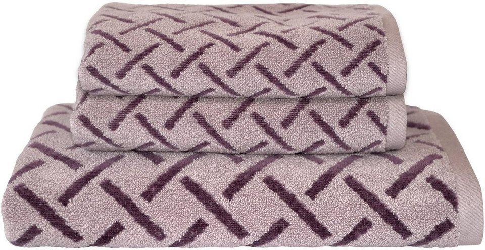handtuch set dyckhoff stripes mit muster und bord re versehen online kaufen otto. Black Bedroom Furniture Sets. Home Design Ideas