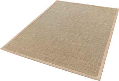 Sisalteppich »Mara S2 mit Bordüre«, Dekowe, rechteckig, Höhe 5 mm, Flachgewebe, Obermaterial: 100% Sisal, Wohnzimmer