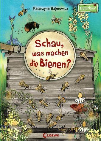 Buch mit Papp-Einband »Schau, was machen die Bienen?«