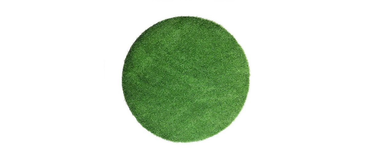 Runder Kunstrasen grün