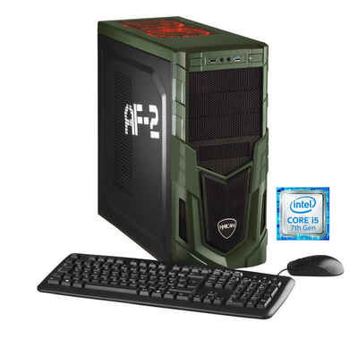 Hyrican Gaming PC Intel i5-7400, 8GB, 1TB, GeForce GTX 1050 »Military 5542« Sale Angebote Egloffstein