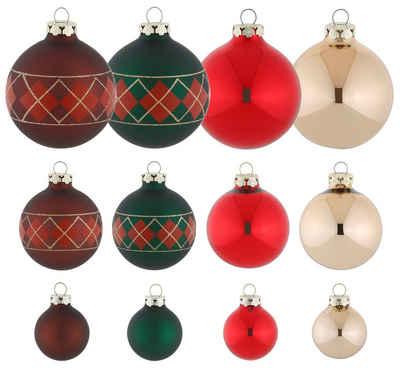 Thüringer Glasdesign Weihnachtsbaumkugel »True Christmas« (30 Stück)