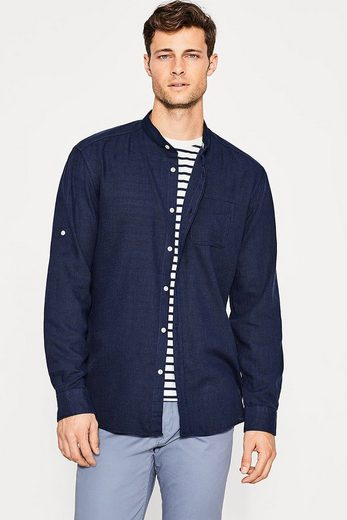 ESPRIT Hemd mit Stehkragen aus Baumwolle