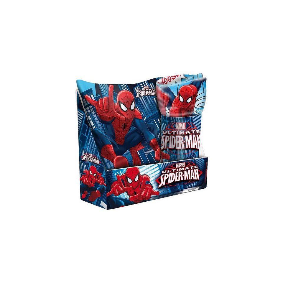 geschenkset spiderman kissen decke 2 tlg otto. Black Bedroom Furniture Sets. Home Design Ideas
