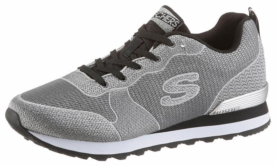 Skechers Sneaker, in modischer schimmernder Optik  grau