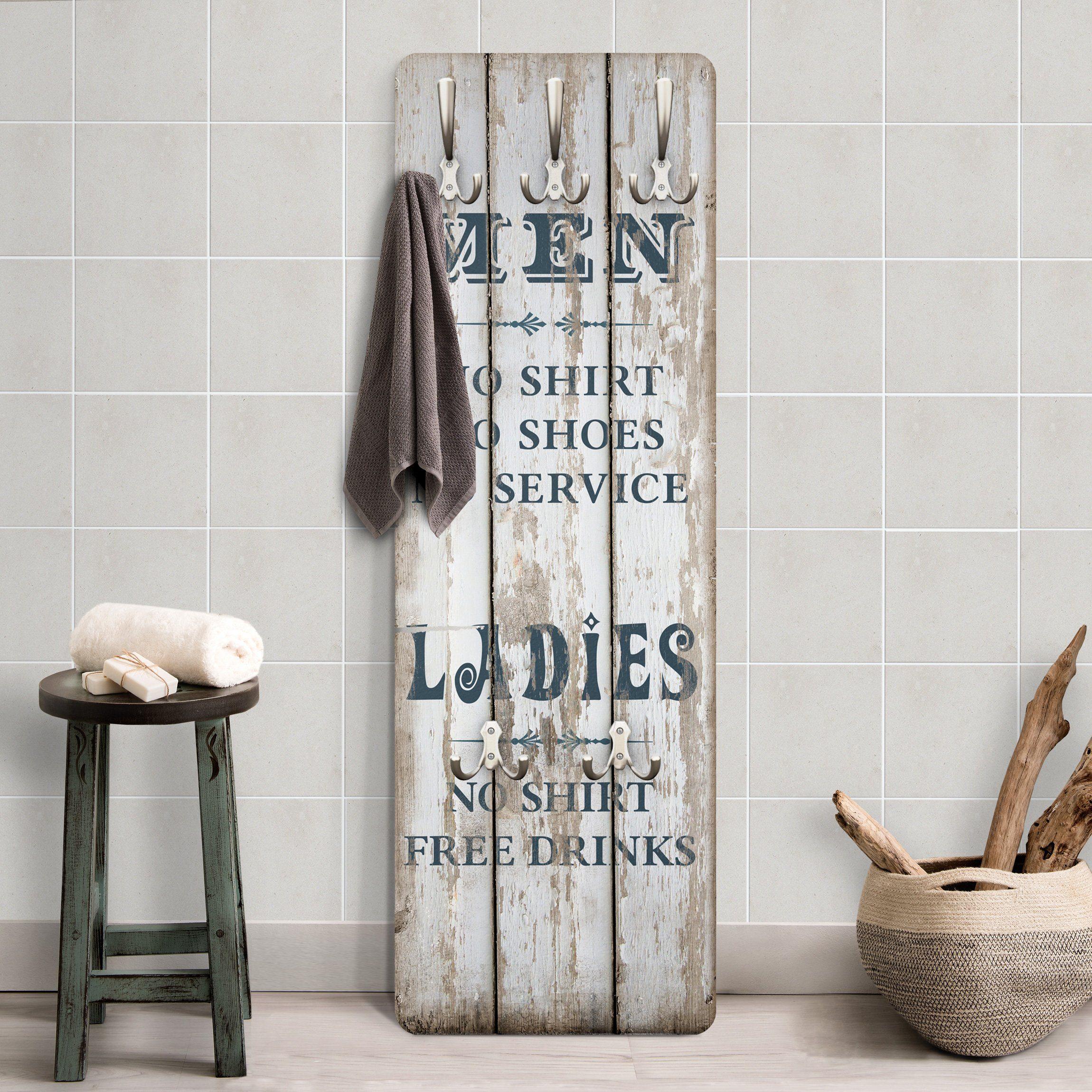 Bilderwelten Garderobe Shabby Chic 139x46x2cm »No.RS181 Men and Ladies«