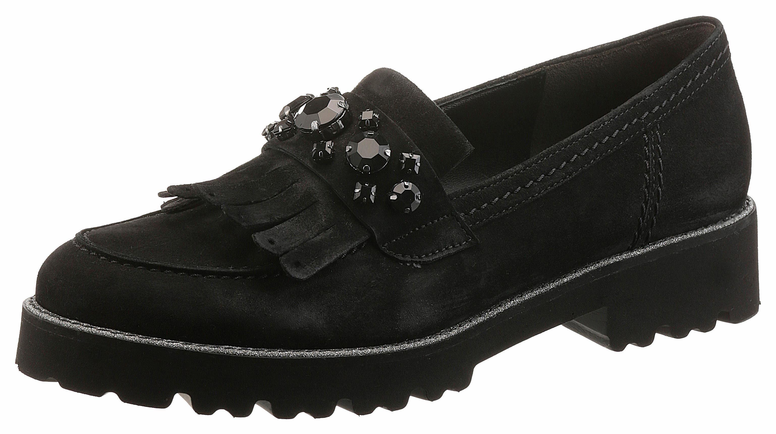 Gabor Slipper, mit schönen Glitzersteinen kaufen  schwarz