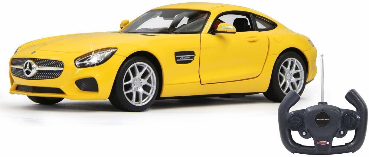JAMARA RC Auto mit LED Beleuchtung, »Mercedes AMG GT, 1:14, 40 MHz, gelb«