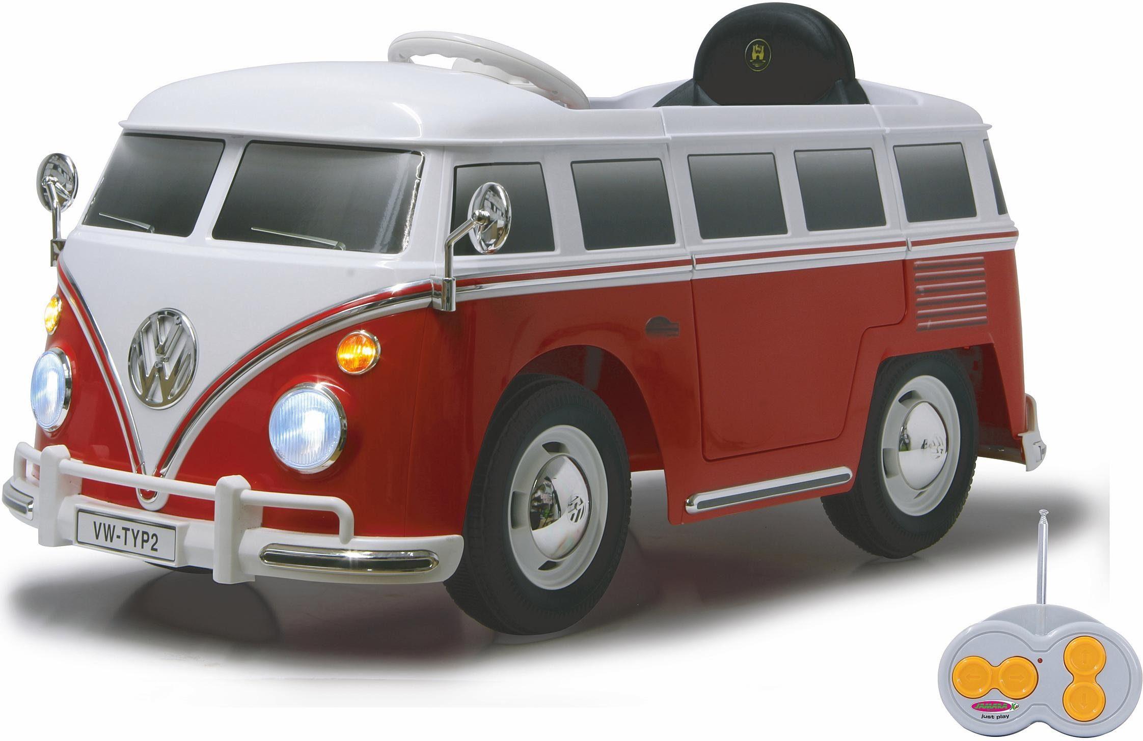 JAMARA Elektrofahrzeug für Kinder, »JAMARA KIDS Ride On VW T1 Bus rot 12V«