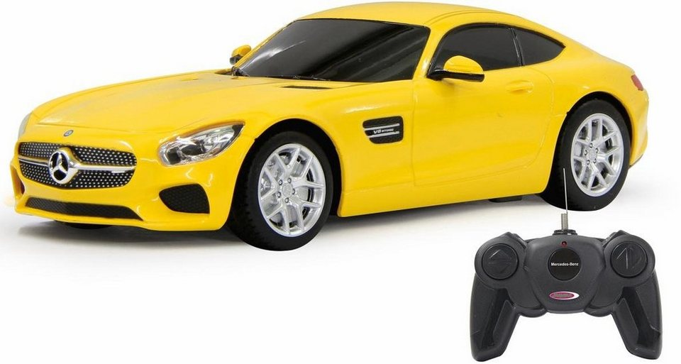 jamara rc auto mercedes amg gt 1 24 27 mhz gelb. Black Bedroom Furniture Sets. Home Design Ideas