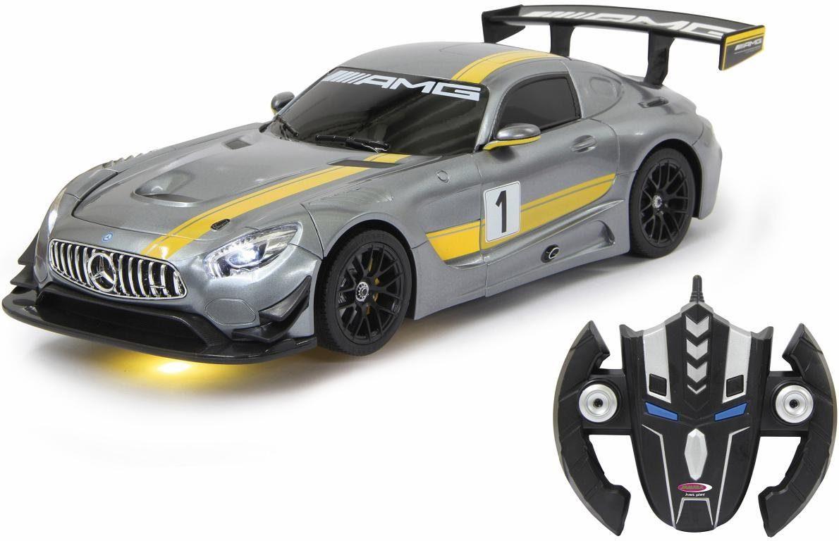 JAMARA RC 2in1 Roboter und Auto, »Mercedes AMG GT3 transformable, 2,4 GHz, grau«