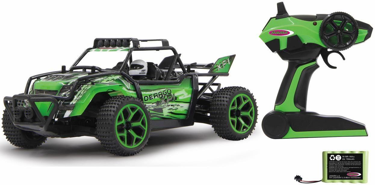 JAMARA RC Auto Komplettset, »Derago XP1 4WD, 1:18, 2,4 GHz, grün«