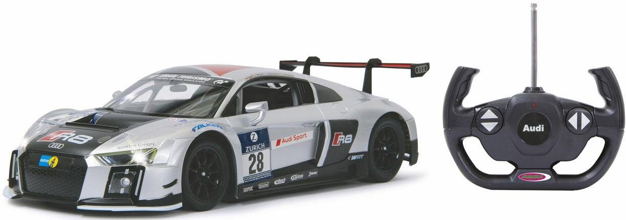 JAMARA RC Auto mit LED Beleuchtung, »Audi R8 LMS Performance, 1:14, 40MHz, silber«