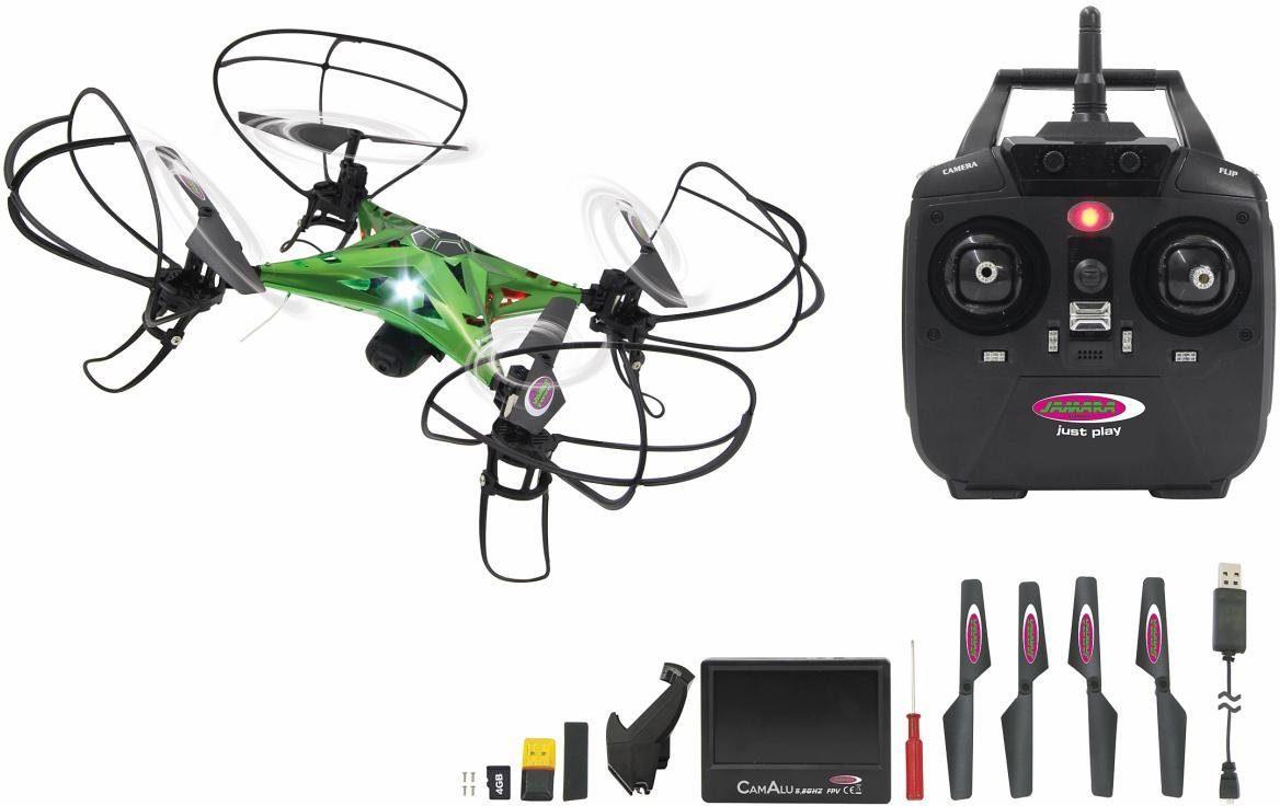 JAMARA Quadrocopter mit HD Kamera und Bildschirm, »CamAlu Altitude HD FPV 5,8G«