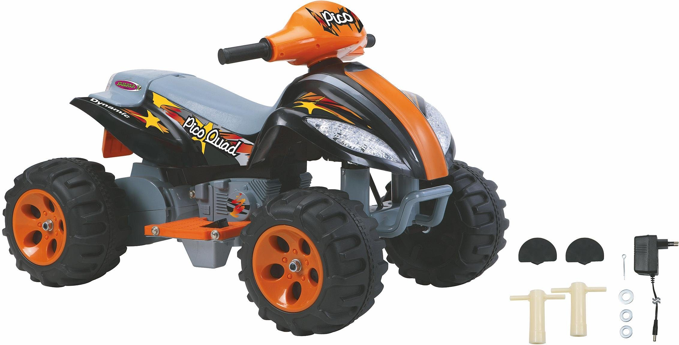 Elektro kinderquad in orange. Kinderfahrzeuge