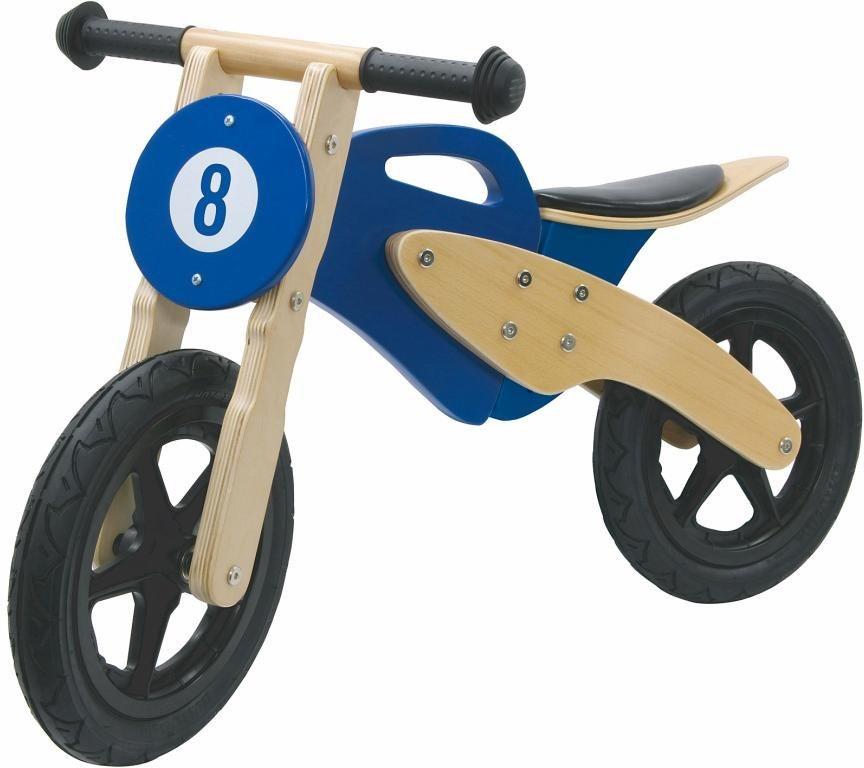 JAMARA Laufrad Holz,  Moto, blau  online kaufen