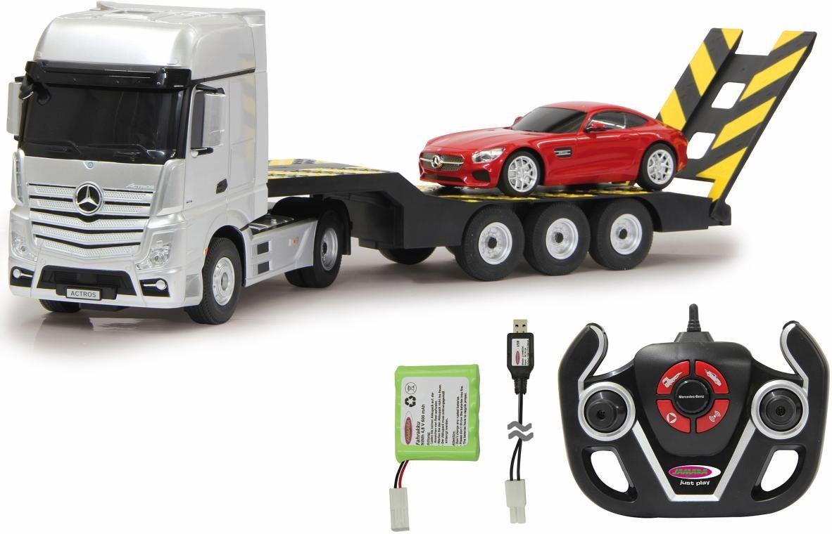 JAMARA RC LKW und Auto, »Mercedes Actros, 1:26, 2,4 GHz & AMG GT, 1:24, 2,4 GHz«