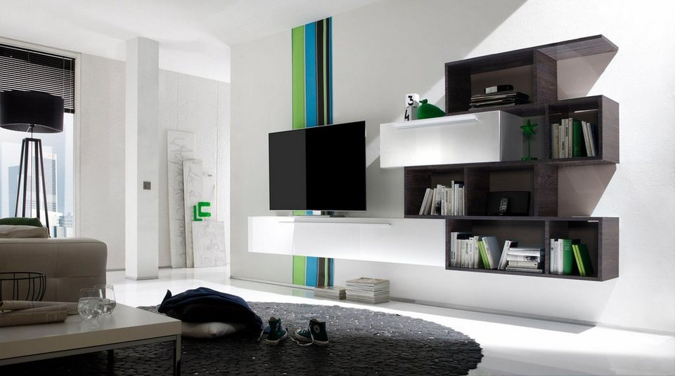 lc line wohnwand 3 tlg online kaufen otto. Black Bedroom Furniture Sets. Home Design Ideas