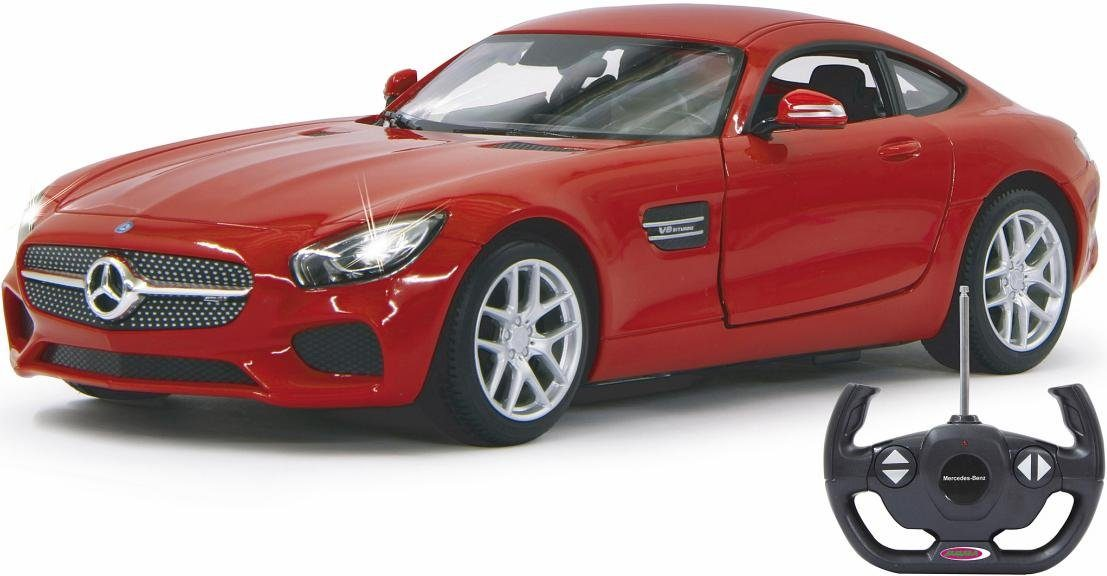 JAMARA RC Auto mit LED Beleuchtung, »Mercedes AMG GT, 1:14, 27 MHz, rot«