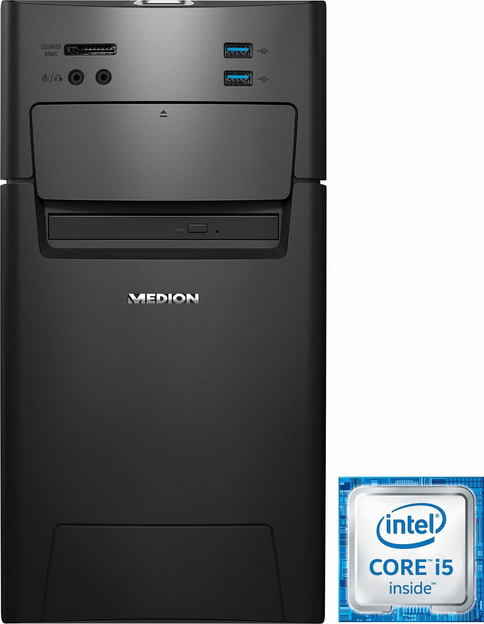Medion® AKOYA P5331 DR Gaming-PC, Intel® Core™ i5, 8192 MB DDR4, 1128 GB Speicher, AMD Radeon RX 460