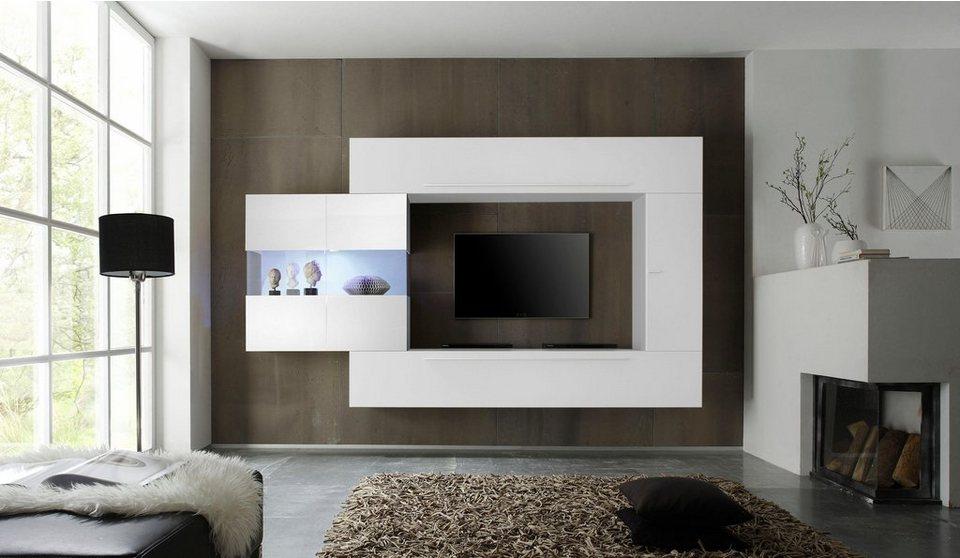 lc line wohnwand 4 tlg online kaufen otto. Black Bedroom Furniture Sets. Home Design Ideas