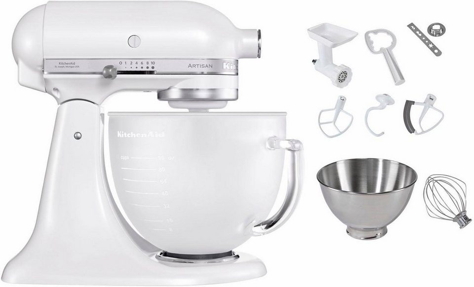 kitchenaid k chenmaschine artisan 5ksm156efp 300 w 4 83 l sch ssel inkl sonderzubeh r im. Black Bedroom Furniture Sets. Home Design Ideas