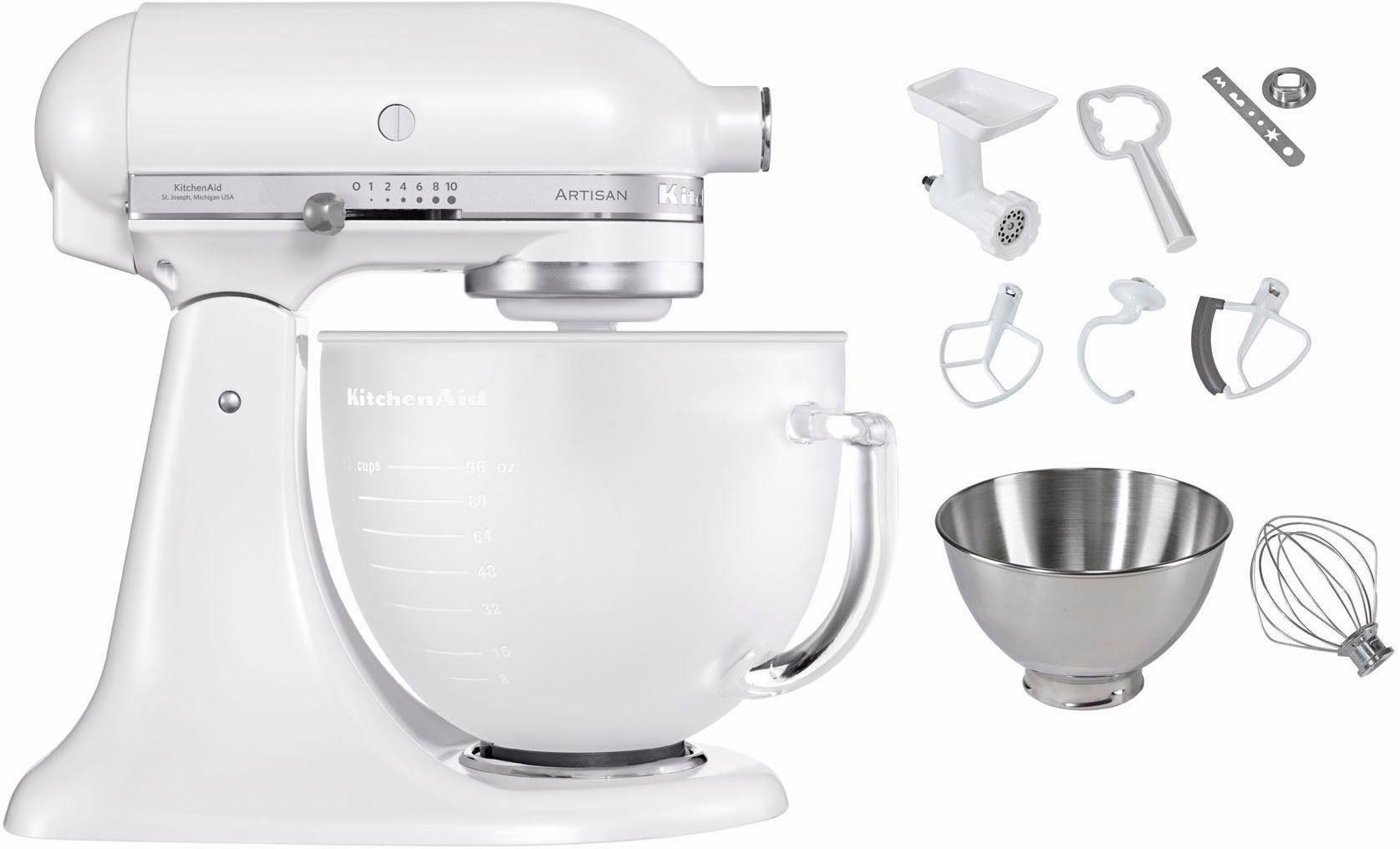 KitchenAid Küchenmaschine Artisan 5KSM156EFP, 300 W, 4,83 l Schüssel, inkl. Sonderzubehör im Wert von ca. 181,-€ UVP