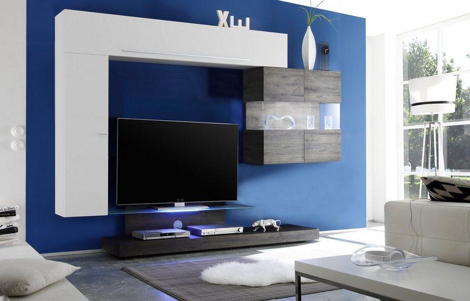 lc wohnwand line 4 tlg online kaufen otto. Black Bedroom Furniture Sets. Home Design Ideas