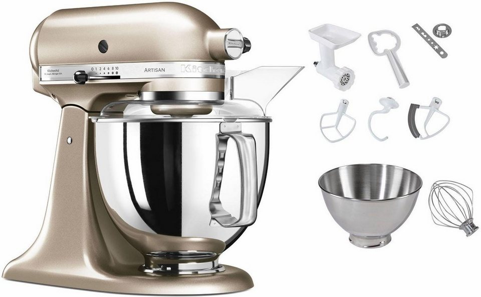kitchenaid k chenmaschine 5ksm175psecz artisan 300 w 4 83 l sch ssel inkl sonderzubeh r im. Black Bedroom Furniture Sets. Home Design Ideas