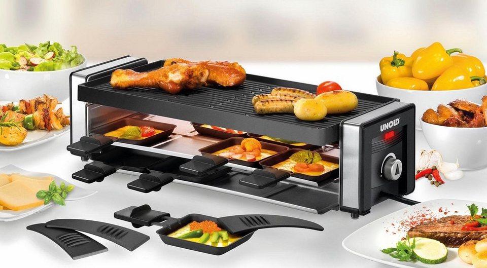 Bomann Mini Kühlschrank Unold : Unold raclette finesse 48735 8 raclettepfännchen 1100 w online