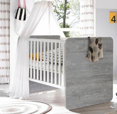 babybett passend zur babym bel serie aarhus vintage grau wei matt lack online kaufen otto. Black Bedroom Furniture Sets. Home Design Ideas