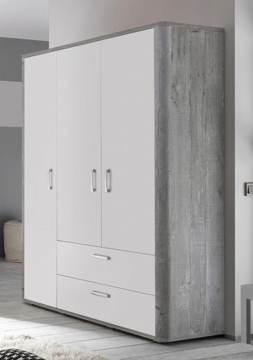 kleiderschrank aarhus in vintage grau wei matt lack online kaufen otto. Black Bedroom Furniture Sets. Home Design Ideas