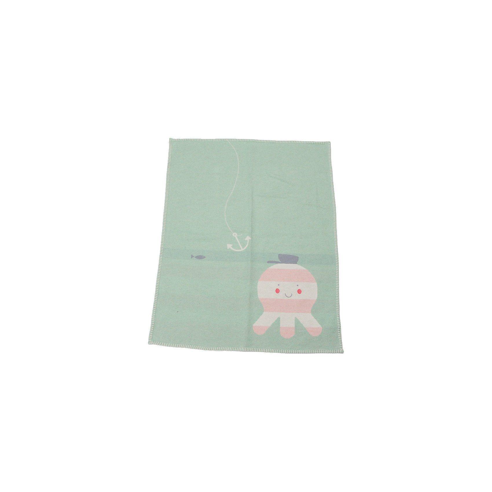 DAVID FUSSENEGGER Babydecke Lili mit Stickerei, Krake mint, 70 x 90 cm | Kinderzimmer > Textilien für Kinder > Babytextilien | Baumwolle - Viskose | DAVID FUSSENEGGER