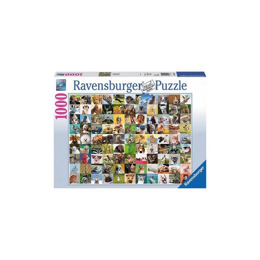 Ravensburger Puzzle 1000 Teile, 70x50 cm, 99 lustige Tiere