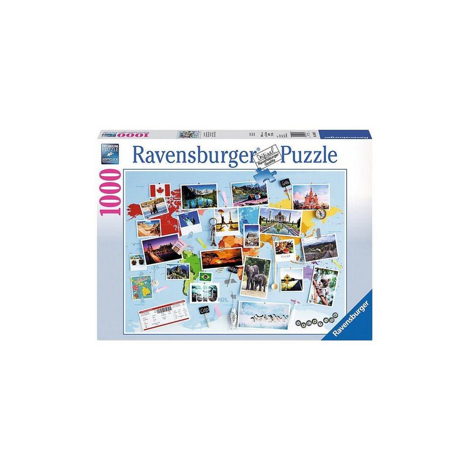 Ravensburger Puzzle 1000 Teile, 70x50 cm, Reise um die Welt online kaufen