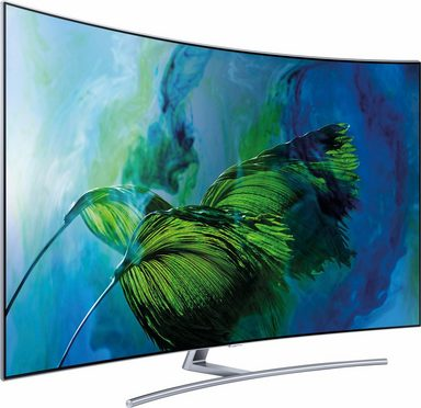 samsung qe55q8cgmtxzg curved qled fernseher 138 cm 55 zoll 4k ultra hd smart tv online. Black Bedroom Furniture Sets. Home Design Ideas