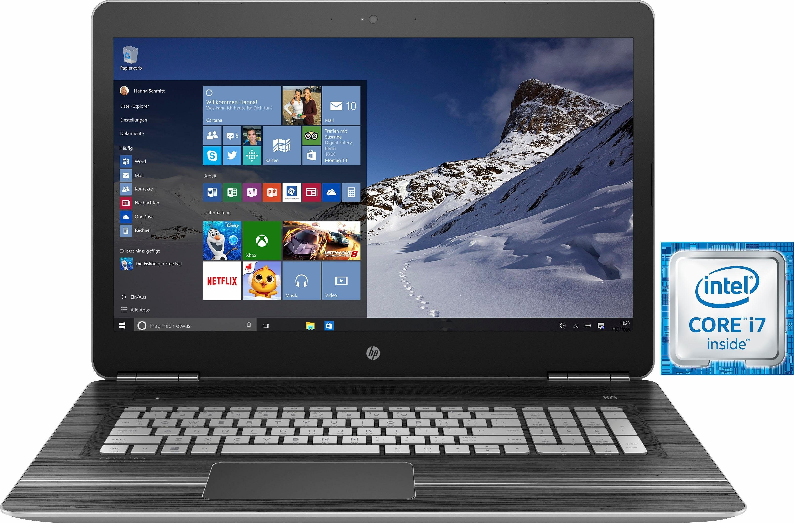 HP Pavilion 17-ab209ng Notebook, Intel® Core™ i7, 43,9 cm (17,3 Zoll), 1128 GB Speicher