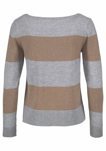 Gant Round Neck Sweater, Block Stripes In
